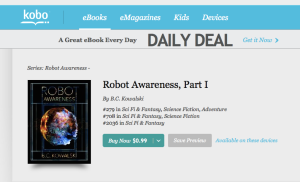 Robot Awareness, ebook, kobo, indiepub, indie, author